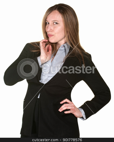 Confident Professional Lady stock photo, Confident professional woman isolated over white background by Scott Griessel