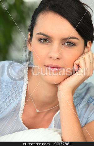 Portrait of brunette stock photo, Portrait of brunette by photography33