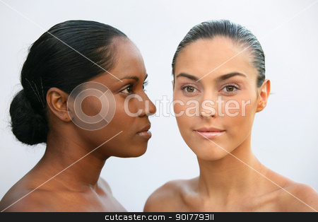 African and Caucasian women stock photo, African and Caucasian women by photography33