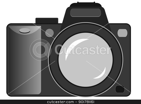 vector still camera stock vector clipart, Vector illustration of the still camera by Siloto