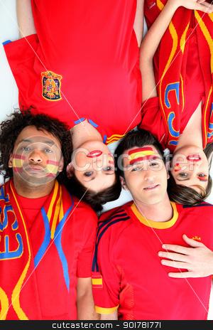 Spanish football fans stock photo, Spanish football fans by photography33