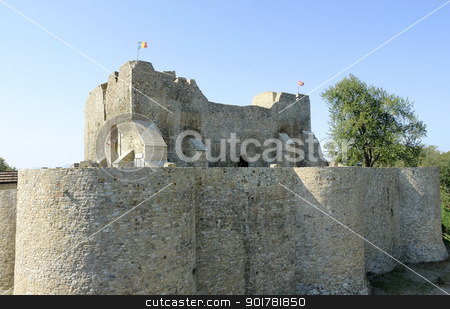 Castle Neamt in Romania stock photo, castle ruin in Romania named Targu Neamt by prill
