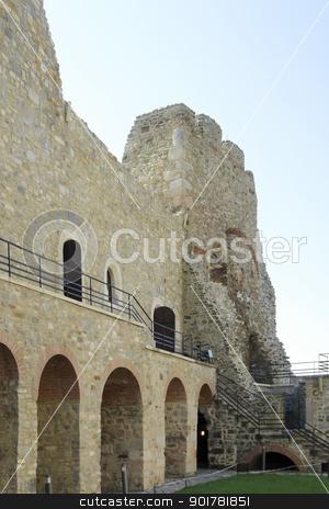 Castle Neamt in Romania stock photo, castle ruin in Romania named Targu Neamt by prill