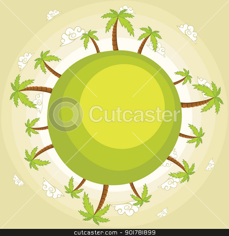 Green earth vector illustration stock vector clipart,  by yusufdemirci