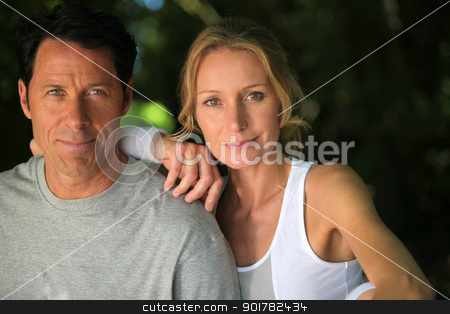man and woman in sports clothes stock photo, man and woman in sports clothes by photography33