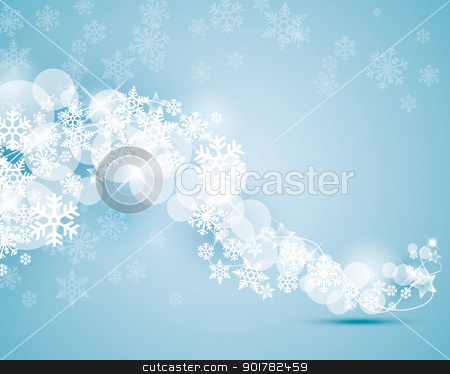 snowflakes stock vector clipart, winter background with snowflakes swirling by Miroslava Hlavacova