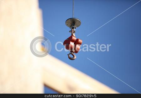 Crane hook stock photo, Crane hook by photography33