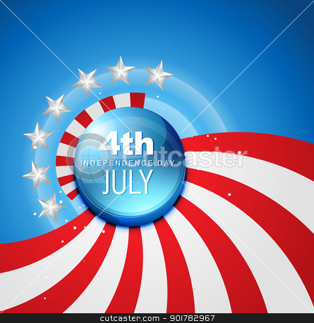 4th of july independence day stock vector clipart, 4th july american independence day vector by pinnacleanimates