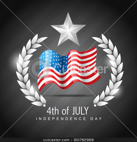 4th of juy independence day stock vector clipart, vector 4th of july independence day design art by pinnacleanimates