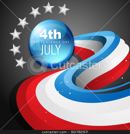 4th of july american independence day stock vector clipart, stylish vector 4th of july american independence day by pinnacleanimates