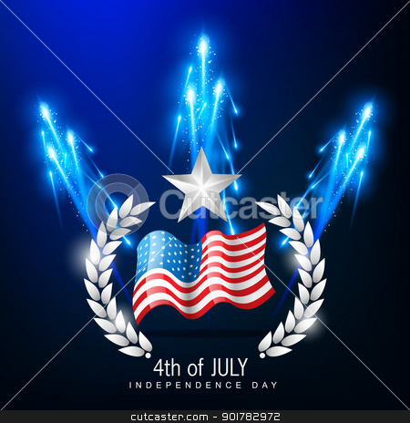 4th of july independence day stock vector clipart, american independence day 4th of july by pinnacleanimates