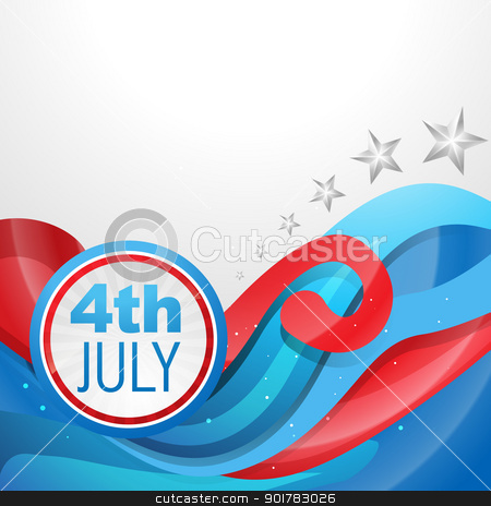 independence day 4th of july stock vector clipart, stylish american independence day design by pinnacleanimates