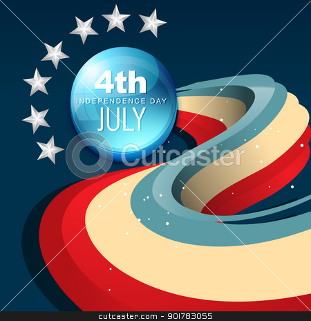 july 4th america stock vector clipart, vector 4th of july independence day design art by pinnacleanimates