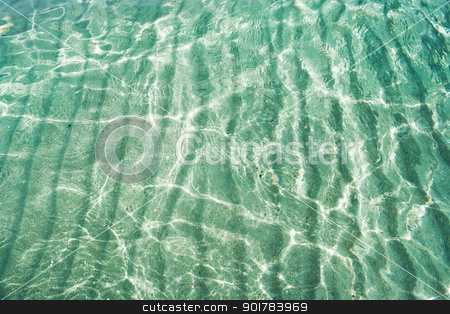 Transparent sea stock photo, Transparent water of Mediterranean sea, Sardinia, Italy by Alexey Popov
