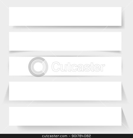 Paper board shadows stock photo, Paper board shadows. Illustration for design on white background    by dvarg