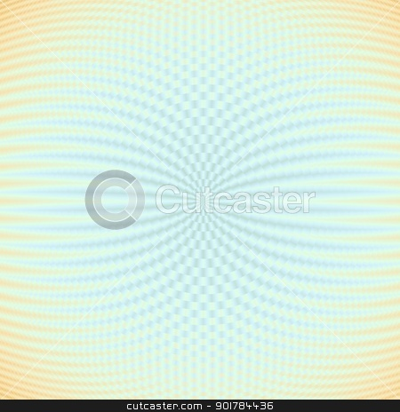 Rings Within Rings stock photo, Digital abstract image in a geometric ring design in deep light blue to light orange at the edges. by Colin Forrest