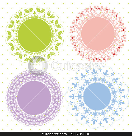 Set of ornate vector frames for Christmas stock vector clipart, Set of ornate vector frames for Christmas Holidays by meikis