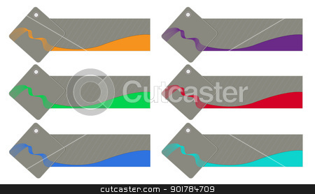 Stylized shopping label collection stock vector clipart, A set of unique and stylized shopping labels/signs for marketing use by Vladimir Repka