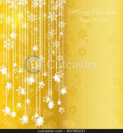 Christmas background stock vector clipart, background of falling stars on Christmas and New Year by Miroslava Hlavacova
