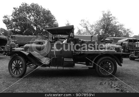 French truck stock photo, Classic world war 2 French farmers truck by Ollie Taylor