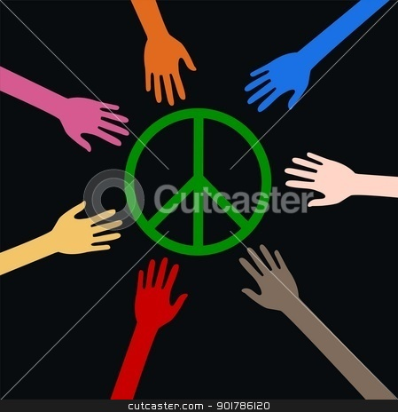 peace freedom diversity stock vector clipart, peace freedom diversity by Popocorn