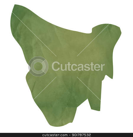 Tasmania map on green paper stock photo, Tasmania map in old green paper isolated on white background. by Martin Crowdy