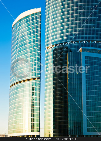 Skyscrapers stock photo, Skyscrapers of the International Business Centre by Alexey Popov
