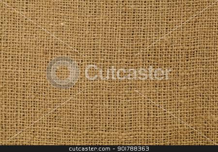 brown burlap texture stock photo, brown burlap fabric background texture by Marek Uliasz