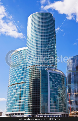 high business skyscrapers stock photo, New international skyscrapers business center in Moscow city, Russia by Alexey Popov