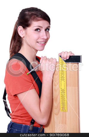 portrait of young woman with angle bracket stock photo, portrait of young woman with angle bracket by photography33