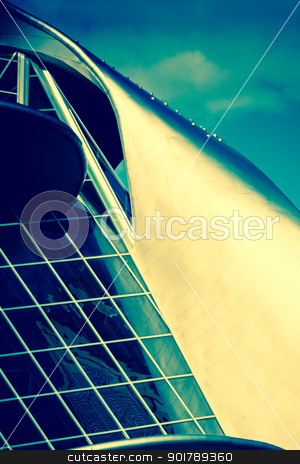 decorative building stock photo, Decoration of a wall building, architecture colors by Anatoliy Nykilchyk