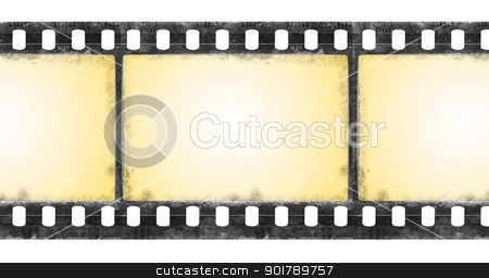 grunge film frame stock photo, Old film frame in grunge style by Siloto