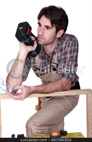 woodworker thinking stock photo, woodworker thinking by photography33