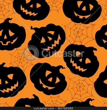 Halloween seamless background 1 stock vector clipart, Halloween seamless background 1 - vector illustration. by Klara Viskova
