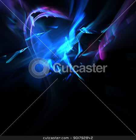 Fractal Background stock photo, Beautiful glowing fractal design background by simas2