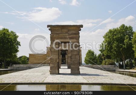 Temple of Debod, Madrid stock photo, Egyptian temple of Debod, Madrid, Spain by dinozzaver