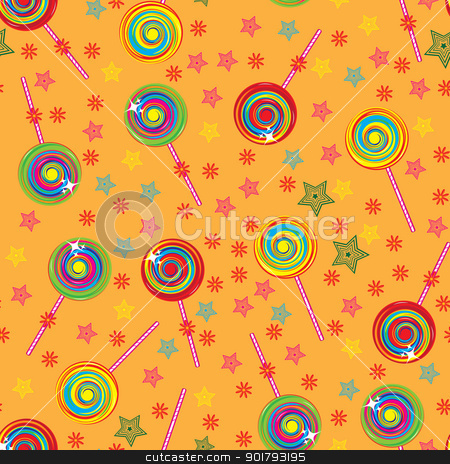 Seamless texture stock photo, Seamless texture colorful lollipops. Illustration for design by dvarg
