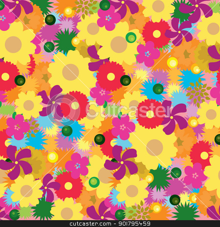 floral background stock vector clipart, floral background for wallpaper, background, template and others by glossygirl21