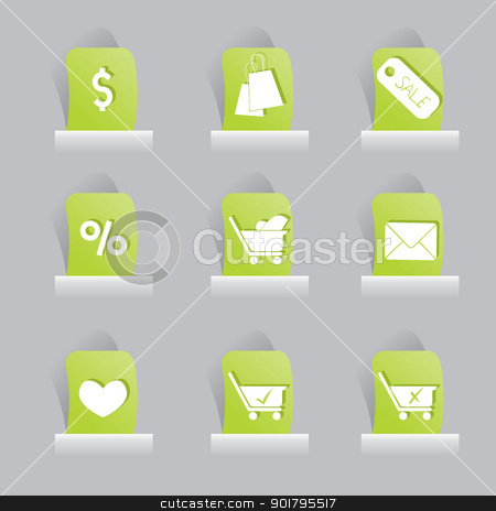 web icons set stock vector clipart, web icons set for items, buttons and office stuff by glossygirl21