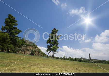 sunny landscape stock photo, An image of a nice sunny landscape by Markus Gann