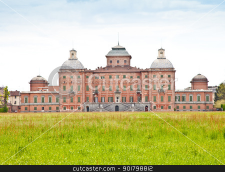 Royal garden stock photo, Italy - Racconigi Royal Palace. The green garden of the Palace during spring season by Perseomedusa