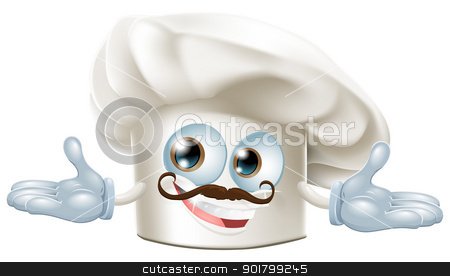 Cute chef hat mascot stock vector clipart, Illustration of a cute chef hat mascot  by Christos Georghiou