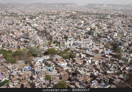 Panorama of Jaipur, Rajastan, India stock photo, Aerial view of Jaipur, Rajastan in India by johnnychaos