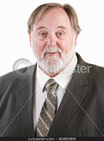Enthusiastic man smiling stock photo, Enthusiastic man smiling happily over white background by Scott Griessel