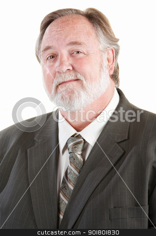 Confident adult man smiling stock photo, Confident adult man smiling over white background by Scott Griessel