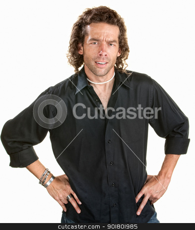 Frustrated Man stock photo, Annoyed Caucasian man with hands on hips by Scott Griessel