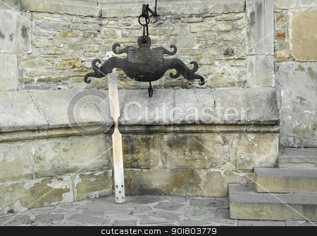 Neamt Monastery stock photo, architectural detail at the Neamt Monastery near Targu Neamt in Romania by prill