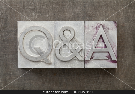 questions and answers - Q&A stock photo, Q&A - questions and answers acronym - text in vintage letterpress metal type by Marek Uliasz