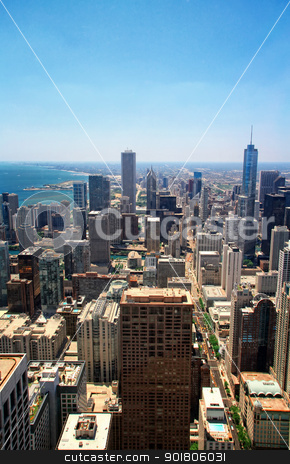 City View stock photo, View of Chicago from Hancook Tower. by Bagiuiani Kostas
