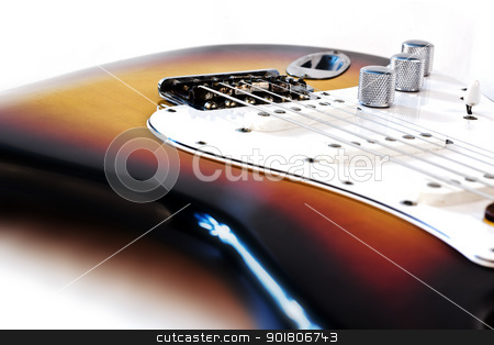 Electric Guitar Detail stock photo, Electric Guitar Detail by Mehmet Şensoy